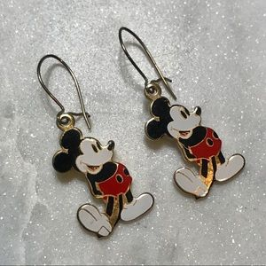 Vintage Walt Disney Mickey Mouse Dangle Earrings